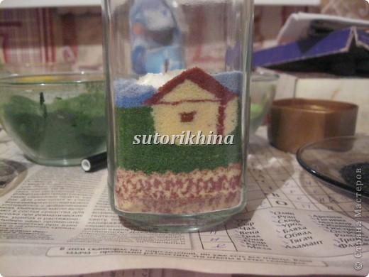 данную технику из соли не могла никак решиться попробовать, видела несколько работ с песком (сувениры различные)  фото 7