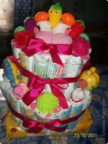 Торт из памперсов. фото 1