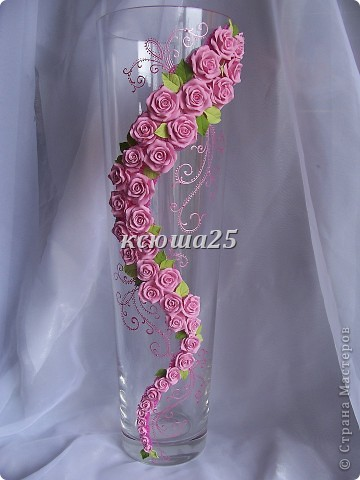 Ваза в подарок.....Pink roze фото 1