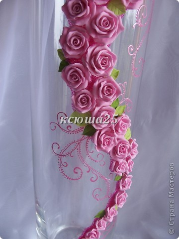 Ваза в подарок.....Pink roze фото 2