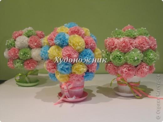 Полюбившиеся салфеточные шарики в горшочках фото 1