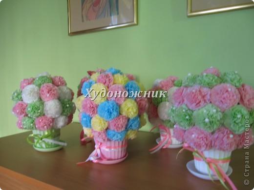 Полюбившиеся салфеточные шарики в горшочках фото 3
