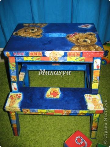 стульчик с мишками в детскую фото 2