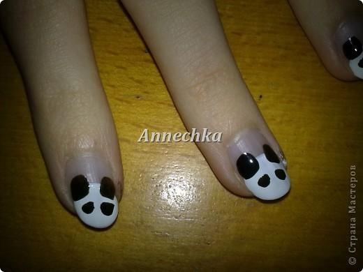 Пандочка на ногтях.  фото 6