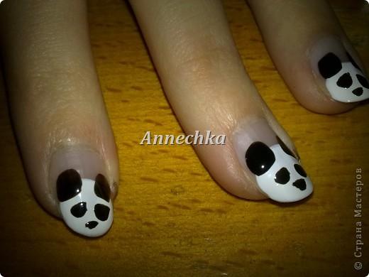 Пандочка на ногтях.  фото 7