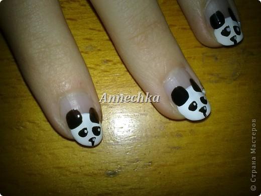 Пандочка на ногтях.  фото 11