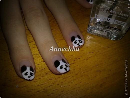 Пандочка на ногтях.  фото 12