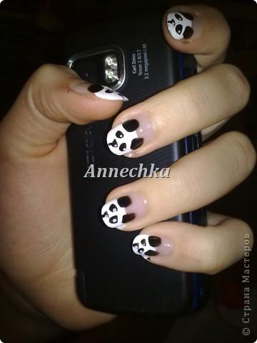 Пандочка на ногтях.  фото 1
