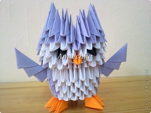 Модульное оригами - Сова.