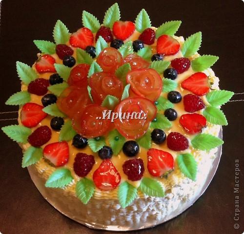 Торт с фруктами (РЕЦЕПТ) фото 1