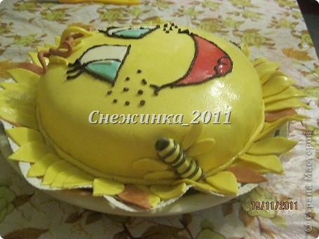 Делала тортик малышу на его первый день рождения фото 2