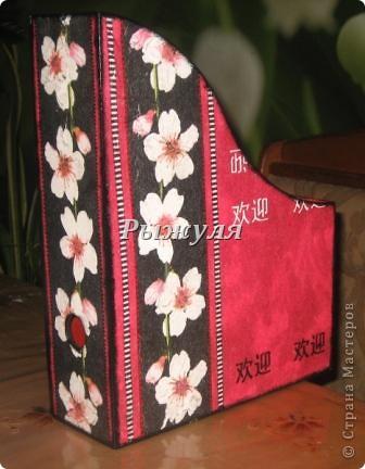 Девочки прикупила в Икее деревянные журнальницы и задекупажила их! Посмотрите, что получилось. фото 2