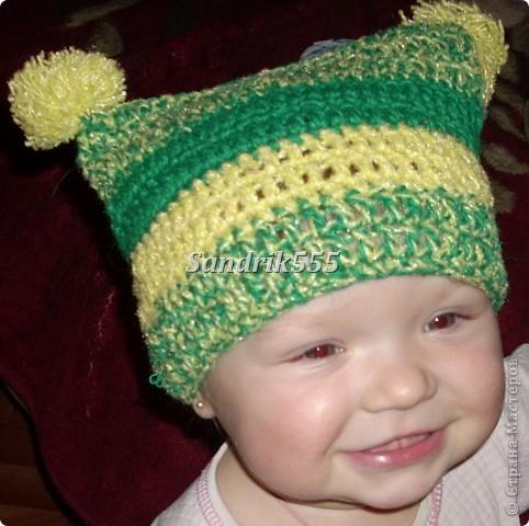 Вязанные детские шапочки фото 1