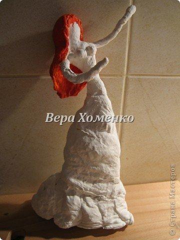 Внеклассная работа Мастер-класс Папье-маше Ватное папье-маше Бумага Вата Проволока фото 11