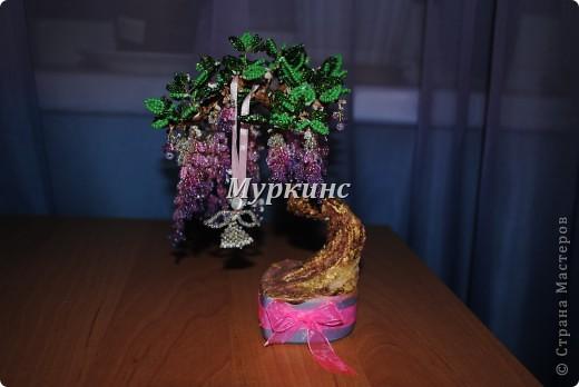 Вот еще одно бисерное деревце с моих рук)  Подарено на День рождения с пожеланиями скорейшего пополнения в семье. фото 3