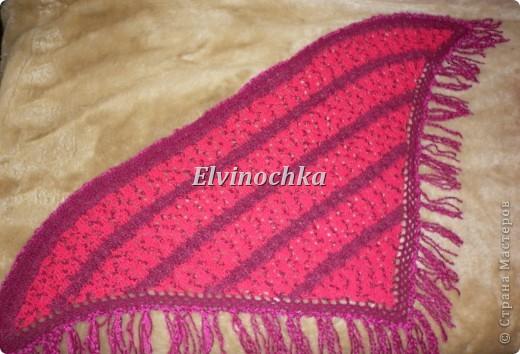 Вязаная маленькая шаль для любимой маме=)))