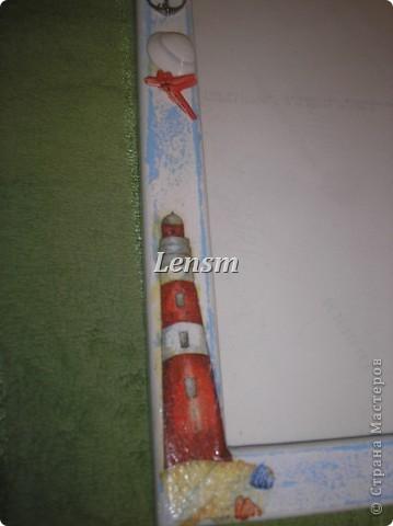 Рамка морская.... Делала сыну к фотографии, где он морячок. фото 4