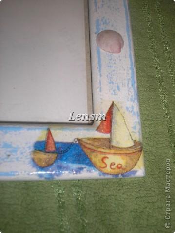 Рамка морская.... Делала сыну к фотографии, где он морячок. фото 6