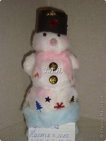 Вот такого снеговика мы с дочкой делали в 1 классе. фото 1