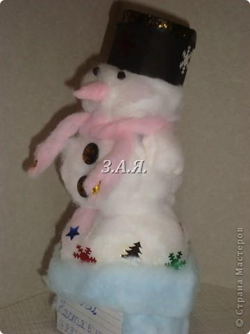 Вот такого снеговика мы с дочкой делали в 1 классе. фото 2