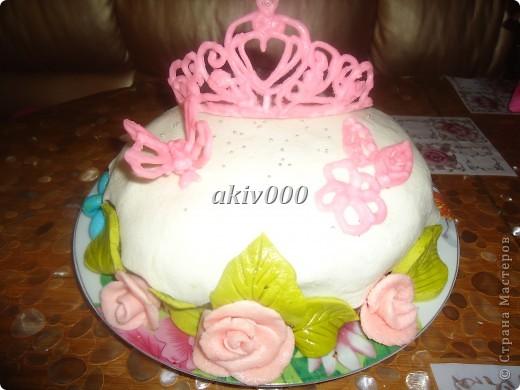 Здравствуйте жители СМ! У моей доченьки 6 ноября было День рождение и я сделала ей вот такой тортик. Хочу показать мини МК короны. Может кому то пригодится? фото 5