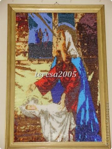 Картина панно рисунок Рождество Бисероплетение Празднинк Рождества Бисер.