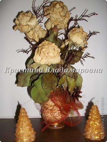 Жаль было выбросить розы - сделала такую вот икебану)) фото 2