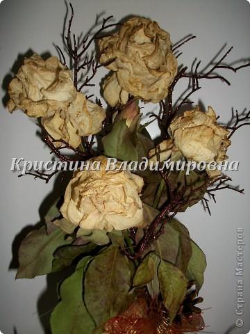Жаль было выбросить розы - сделала такую вот икебану)) фото 3