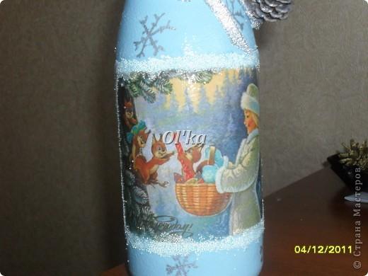 Здравствуйте! Моя новогодняя бутылкомания продолжается. :)  Принимайте новенькие бутылочки. фото 6