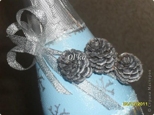 Здравствуйте! Моя новогодняя бутылкомания продолжается. :)  Принимайте новенькие бутылочки. фото 5