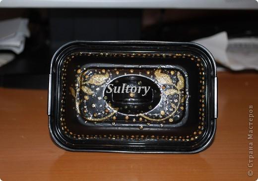 Простенькая шкатулочка для дочиных украшений, основа - коробочка из-под паштета. фото 3