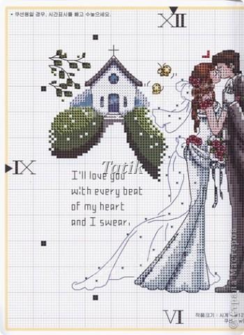 Свадьба Вышивка крестом