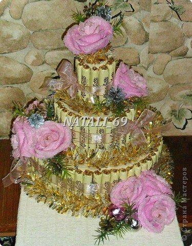 "Торт ""Розы в снегу"" фото 1"