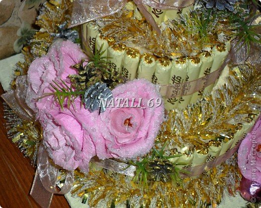 "Торт ""Розы в снегу"" фото 3"