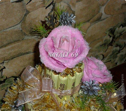 "Торт ""Розы в снегу"" фото 2"