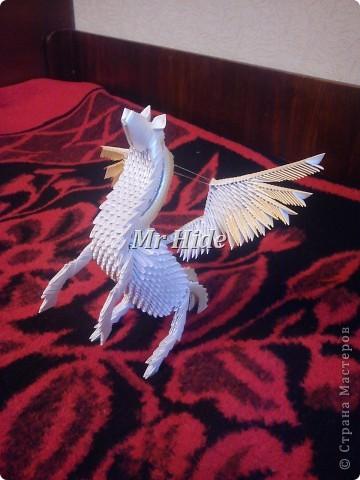Мастер-класс Поделка изделие Оригами китайское модульное Пегас МК Бумага Клей фото 58