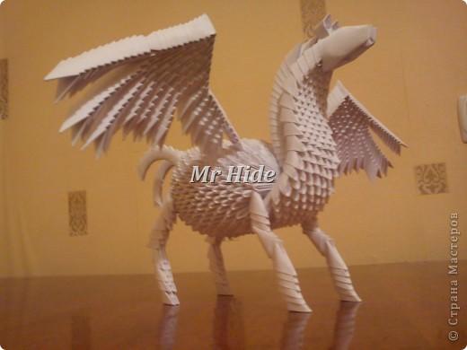 Мастер-класс Поделка изделие Оригами китайское модульное Пегас МК Бумага Клей фото 54