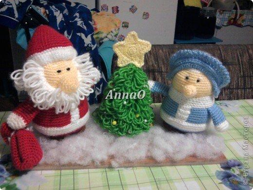 Вязание крючком Дед Мороз