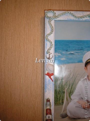 Рамка морская.... Делала сыну к фотографии, где он морячок. фото 1