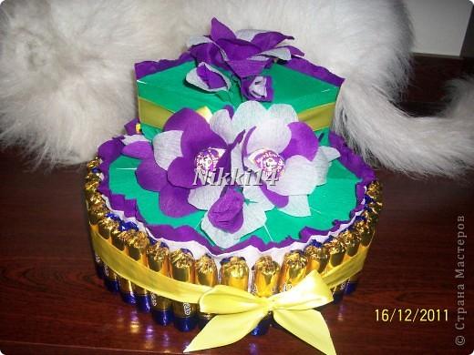 Мой первый подвиг создания торта из конфет. фото 2