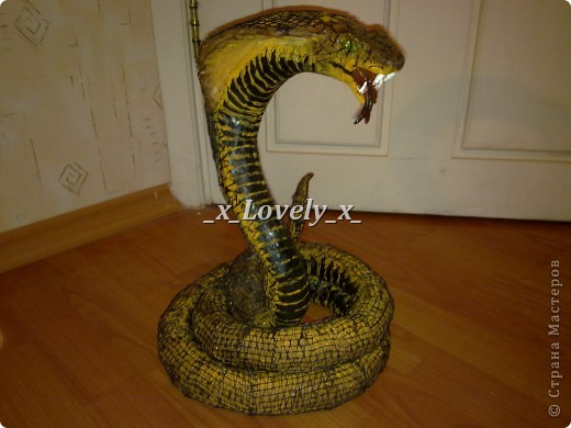Вот такая у меня получилась змея)))Она довольно большая)) фото 1