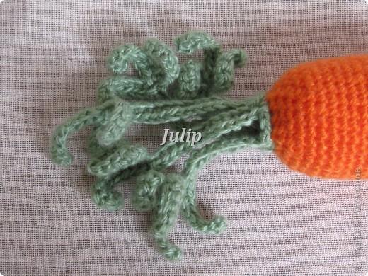 Вязание крючком Морковь
