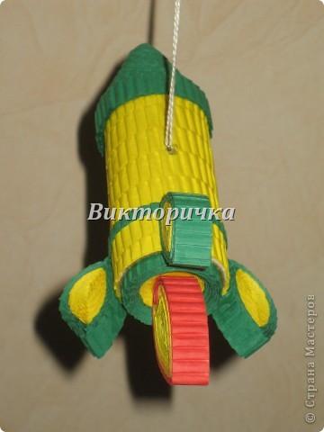 """Ёлочная игрушка """"вертолётик"""". Вид сбоку. фото 7"""