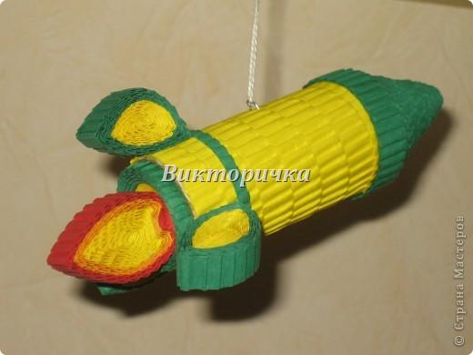 """Ёлочная игрушка """"вертолётик"""". Вид сбоку. фото 6"""
