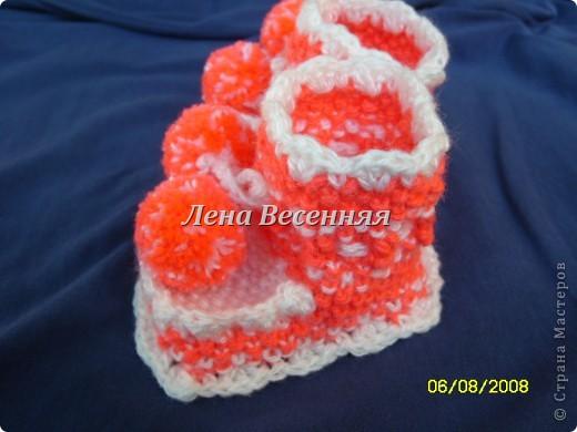 Пинетки Розовые - вязание