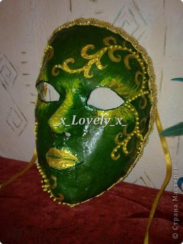 Это моя зелёная маска, не очень конечно, но это пробно..)))