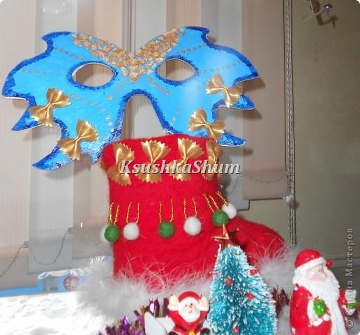 Вот такой валеночек для Новогодней выставки в школе. фото 2