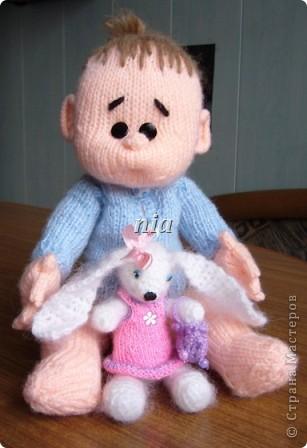 Вязаная кукла - пупс фото 1