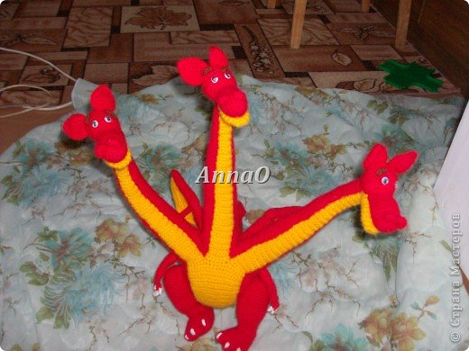 Игрушка Вязание крючком Змей