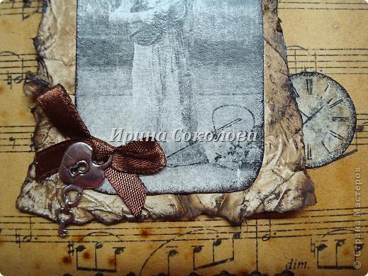 Винтажная открытка из подручных материалов (с кратким описанием) фото 5